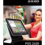 "PC POS TOUCHSCREEN AXON 2400-CPU INTEL i3 2330M 2.20 GHz-TFT 15"" LED RESISTIVO ELO-DDR3 4GB-SSD 64GB-SVGA Intel HD 3000-NO S.O.-COLORE NERO"