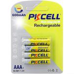 BATTERIE PKCELL MINISTILO RICARICABILE AAA Ni-MH 1,2v 600mAh CONF. 4PZ