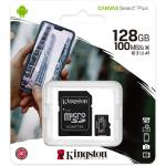 MEMORIA KINGSTON MICRO SD TRANSFLASH Canvas Select Plus 128GB Classe 10 SDCS2/128GB
