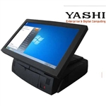 "PC POS YASHI YT700 TOUCH SCREEN LCD 15.6"" Intel Atom N230/2GB DDR2-800/FLASH 4GB(OPZIONE HHD 2.5"")/VGA Intel X3150/3x RS232/LAN/4x USB 2.0/FREE DOS"