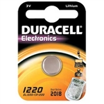BATTERIA DURACELL PILA A BOTTONE LITIO 3V DL1220/CR1220
