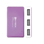HUB USB KEYTECK 4 PORTE FULL SPEED 2.0 LONG PURPLE HUB-158PL