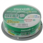 SUPPORTO PRINTABLE MAXELL DVD-R 16x FULL FACE ( 1 CAKE X 25pz )